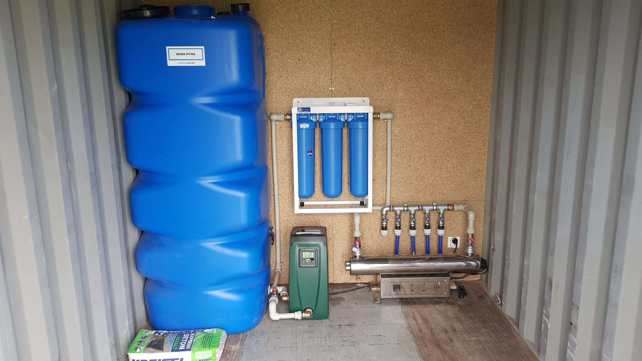WATER TREATMENT AND PURIFICATION STATION