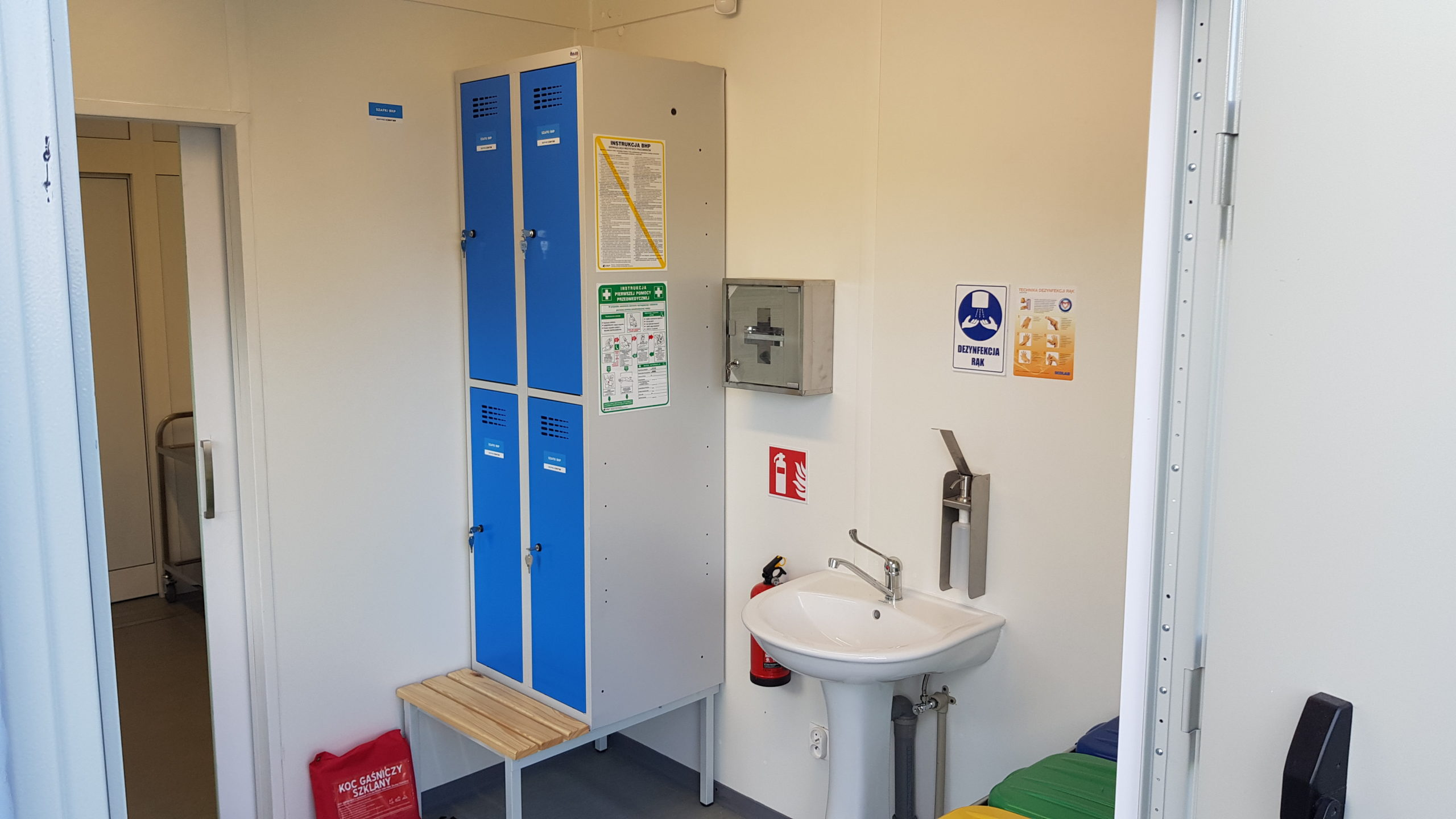 Cloakroom for medical staff